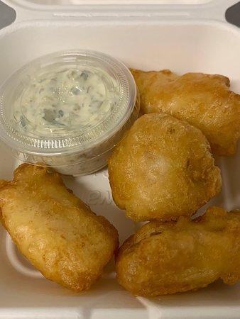 New to the Menu - Fish Bites with home-made tartar sauce...