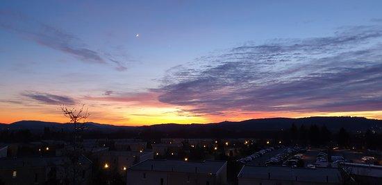 Sonnenuntergang - Blick aus dem Haus 608