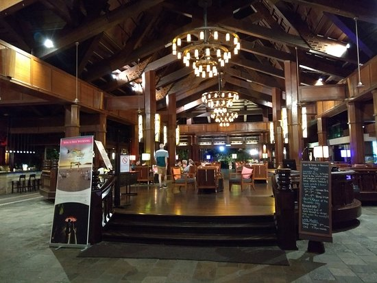 Hotel reception and lobby