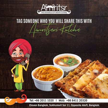 Tag Your loved ones with whom you wish to share our delicious #AmritsariKulcha with and you will be thanked by them forever.  #Amritsr #ElevenBangkok #Fun #FoodFun #Foodie #Delicious #BangkokFoodies #FoodLovers #ElevenBkk #SukhumvitSoi11 #Soi11 #NewOutlet #NewBranch #AmritsariFoodie #TagYourFriends #Comments #ThursdayFun #FunTime