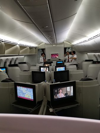 Qatar Airways: салон бизнес класса