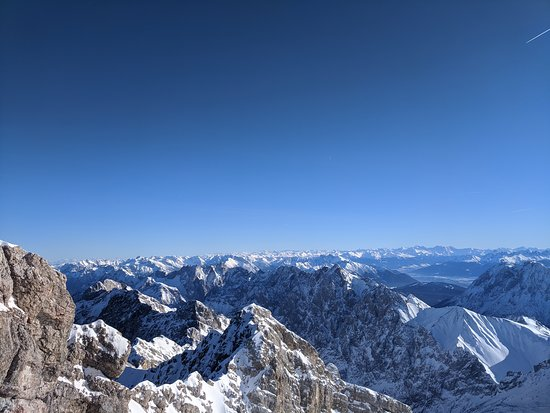 View from Zugspitze- highest peak of Germany