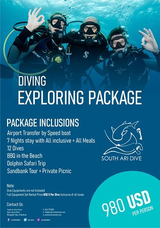 DIVING PACKAGE for DIVERS  ALL INCLUSIVE STAY 7 DAYS AND DIVE