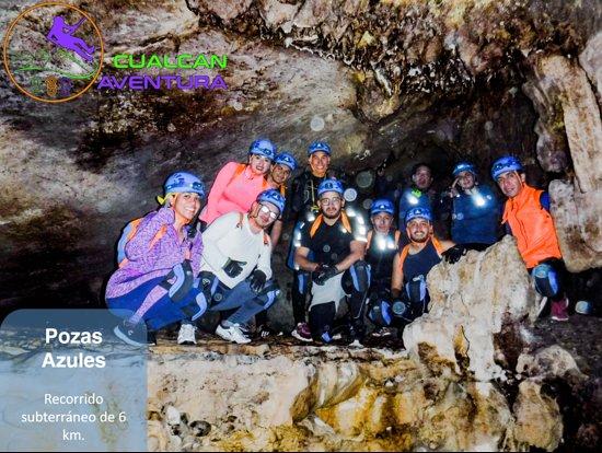 Cacahuamilpa, México: Nuestro primer destino de este mágico circuito de río azul.  Recorreremos varias bóvedas de esta impresionante caverna, escalaremos y haremos unos increíbles saltos en las pozas.  Incluye: Traslados, seguro de viajero, equipo certificado y homologado, hidratación y snack, guía local y guías certificados.  Fechas: 22 o 23 de febrero.  Más Información: Facebook @cualcanaventura  Whatsapp: 7223048939 o 5551869450