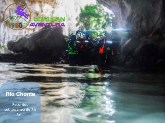 Cacahuamilpa, México: Nuestro segundo destino del circuito de río azul.  El emblemático río Chonta, accedemos a este río por claraboya y salimos en dos ríos, una aventura que debes de vivir sin duda alguna.  Fechas: 7 u 8 de marzo del 2020.  Incluye: transporte, seguro de viajero, accesos, equipo certificado y homologado, hidratación y snack, guías certificados.  Más Información: Facebook: @cualcanaventura  Whatsapp: 7223048939 o 5551869450