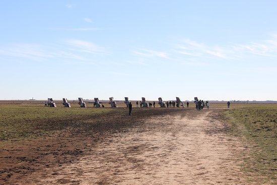 Cadillac Ranch - View From the I-40 Frontage Road - 12-1-19
