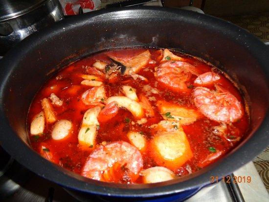 Caselette, Италия: zuppa di pesce