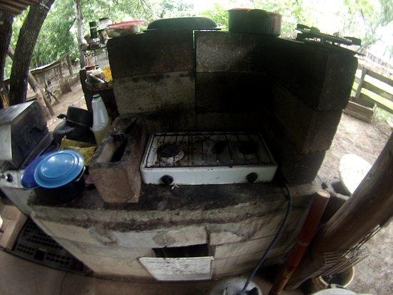 Kitchen of the volunteers