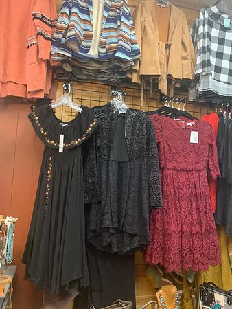 dresses, cardigans, and jackets
