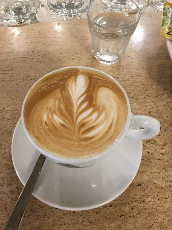 One of many cups of wonderful cappuccino.
