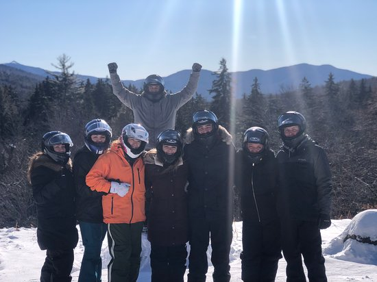 AMAZING Snowmobiling group experience! Take the guided tour with BEACH!