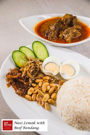 Lane Cove North, Australie : Nasi Lemak with Beef Rendang