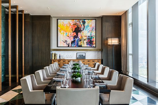 Private dining room.