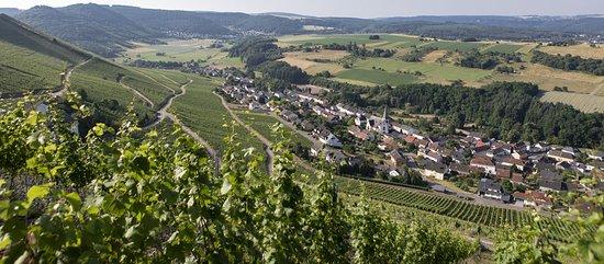 Aussicht auf dem Wein-Ort Ockfen