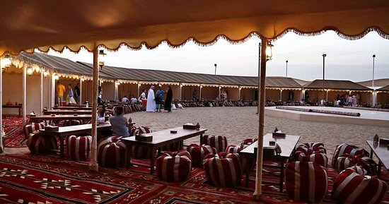 Unforgettable Experience of Red Dunes Desert Safari Tour: our sitting area
