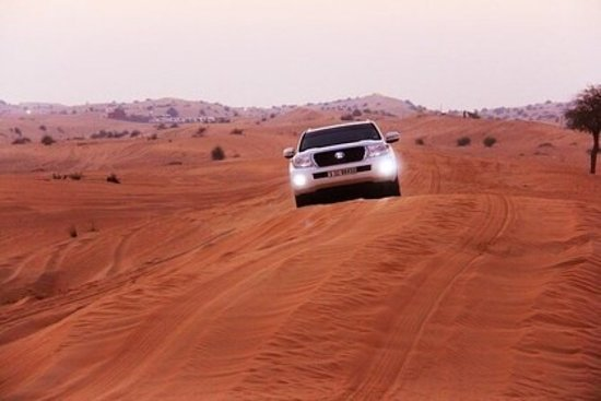Unforgettable Experience of Red Dunes Desert Safari Tour: Our vehicle for safari