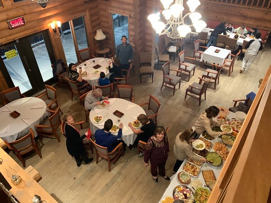 New years eve at the clubhouse of blueberry lake resort.