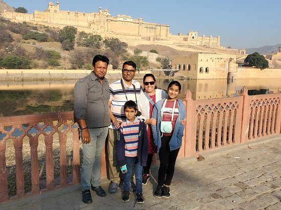 Private Driver For Golden Triangle Tour: Amber Palace in Jaipur with our FANTASTIC tour driver, Ali Firoz!