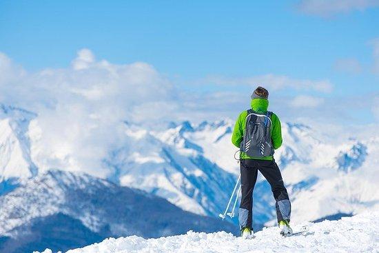 Skier dans les montagnes tchèques...