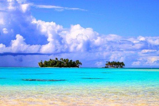 La laguna blu combinata e l'isola Reef