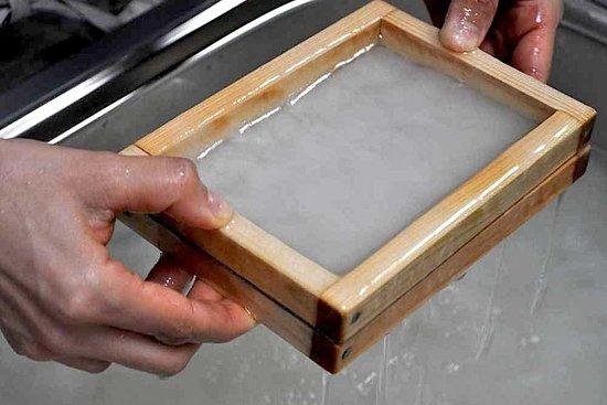 Kyoto - Fabrication de papier Washi traditionnel japonais