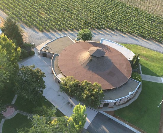 Aerial shot of our Tasting Room. Right off Hwy 101 in Redwood Valley, CA