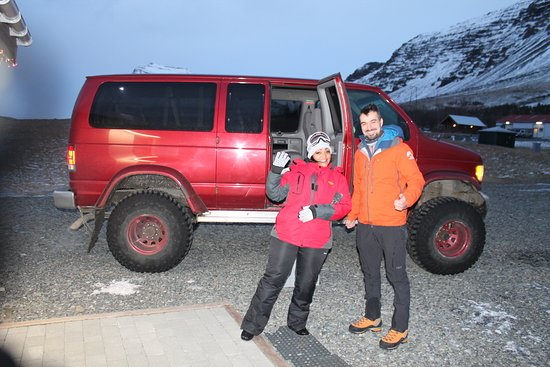 Crystal Ice Cave Adventure: Me and our tour guide Ladislav getting ready to hit the trail.