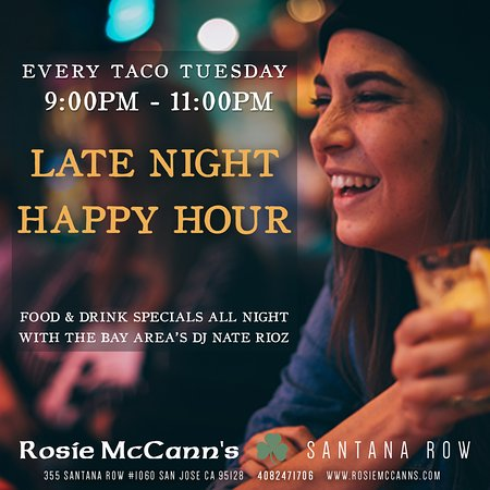 Late Night Happy Hour  Tuesday 9:00pm - 11:00pm