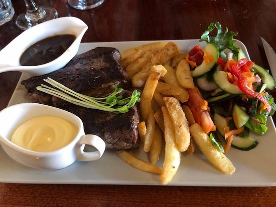 Petite 250 gram Rump Steak with Chips and Salad