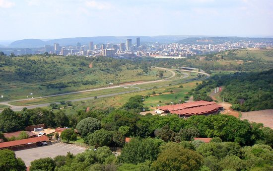 A little way out of Pretoria centre, but well worth the journey. Here is a view of the City from the Monument steps.