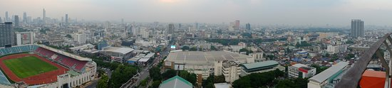 Panoramic view of the city from the Roof