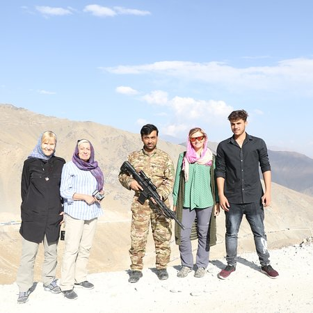 Afghanistan: Our Tour to Salang pass Parwan Province to see the Hindukosh Mountains  With Mrs Anna From London Mrs Gabriele From Canada Mrs Sally From London Mr Hamish From Australia and Mr Smith From Austria