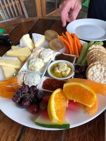 Cheese platter for two- so delicious!