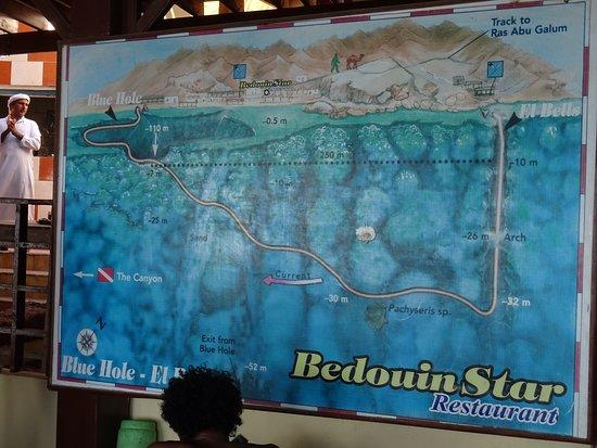 Plan de la Plongée au Blue Hole