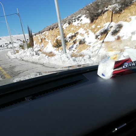 Мухафаза Маан, Иордания: Snow day in al shobak in the way to petra today