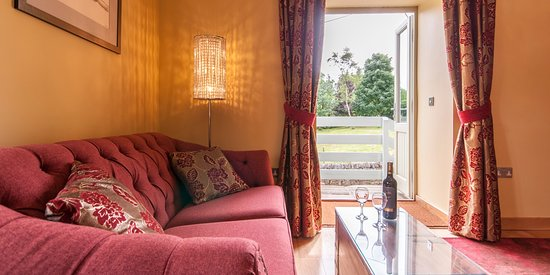 The Hayloft Suite private sitting room