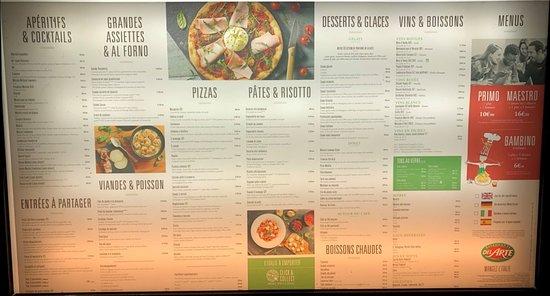 Pizzeria Del Arte Des Porte De Chevreuse A Coignieres Photo De La Carte Del Arte Coignieres Tripadvisor