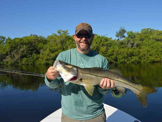 Big Snook caught while fly fishing