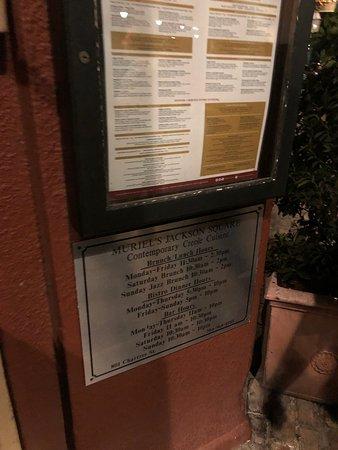 outside menu