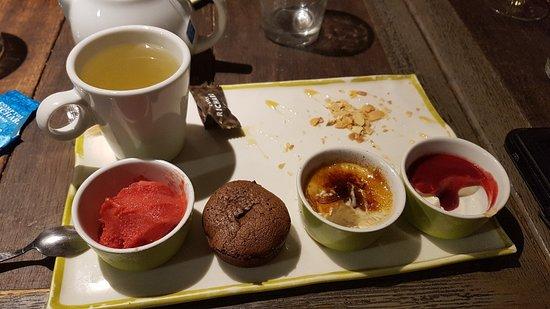 Café ou thé gourmand excellent