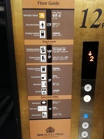 Der Lift kann nur mit der Zimmerkarte bedient werden und hält auch nur in der betreffenden Etage an