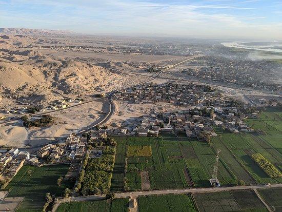 Hod-Hod Soliman Sunrise Hot Air Balloon Rides Luxor, Egypt: Aerial shot