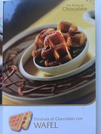 Fondute con wafel