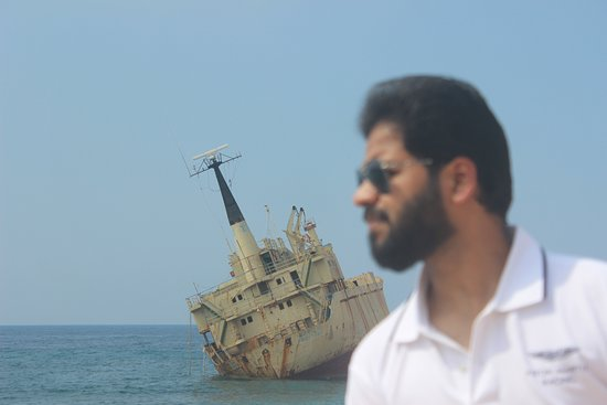 ship wreck in the background