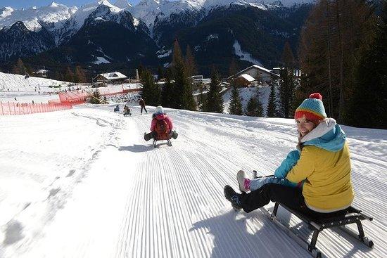 La pista da slittino più famosa delle Dolomiti e un tour panoramico