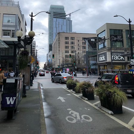 Downtown Seattle , Beautiful day from Mid day until sunset