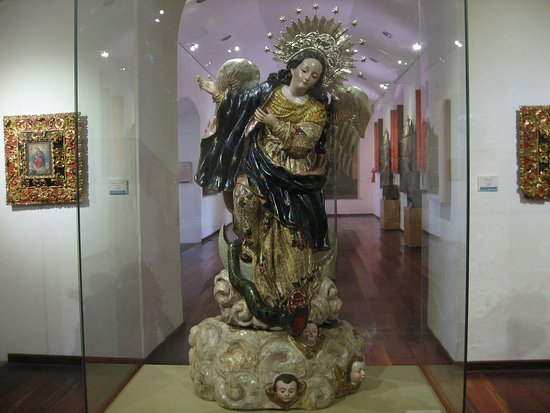 The Winged Madonna statue.