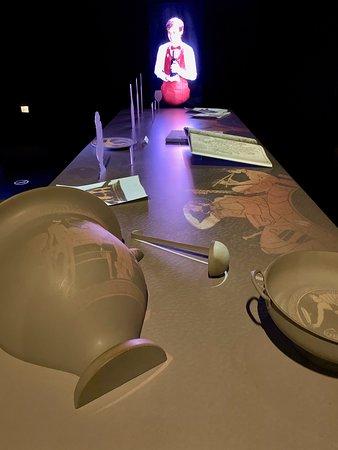 Bordeaux La Cité du Vin Wine Culture Museum Skip-the-Line Entrance Ticket: video and projector on table