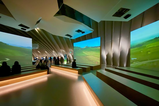 Bordeaux La Cité du Vin Wine Culture Museum Skip-the-Line Entrance Ticket: 3 video screens taking you around the world to all of the different wine regions