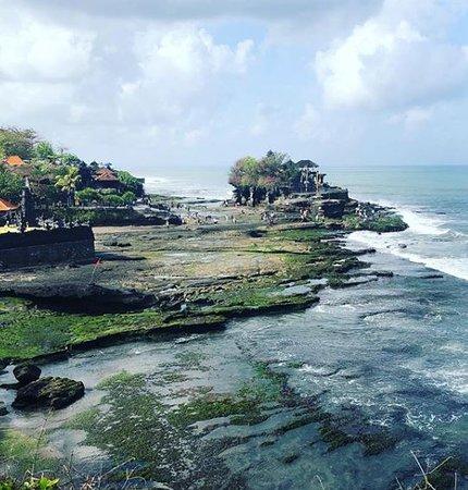 Tanah Lot, sea temple from far away.